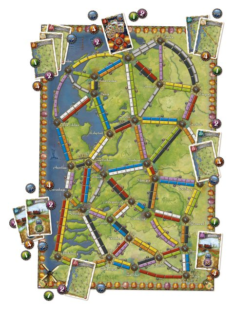Ticket to Ride Nederland board