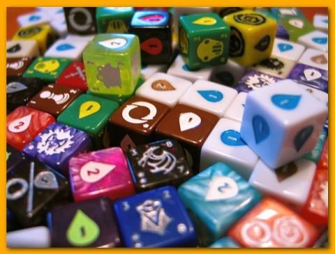 Quarriors Dice Building Game dice
