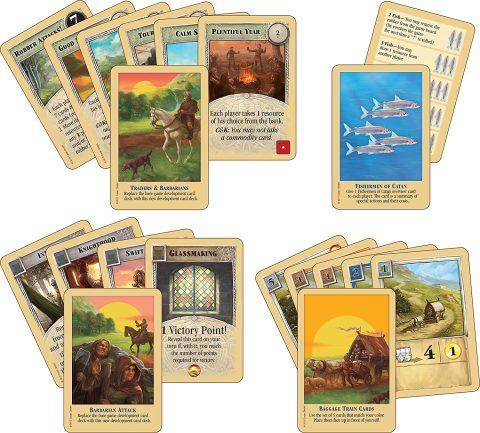 Catan Traders & Barbarians cards