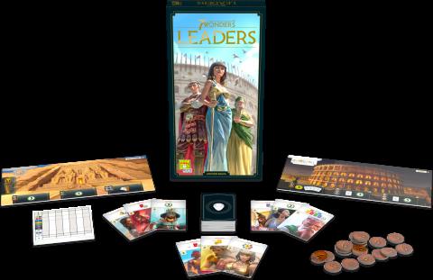 7 Wonders Leaders Components