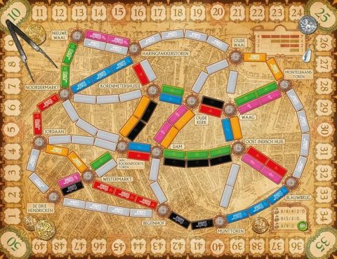 Ticket to Ride Amsterdam board