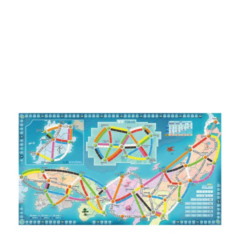 Ticket to Ride Japan board